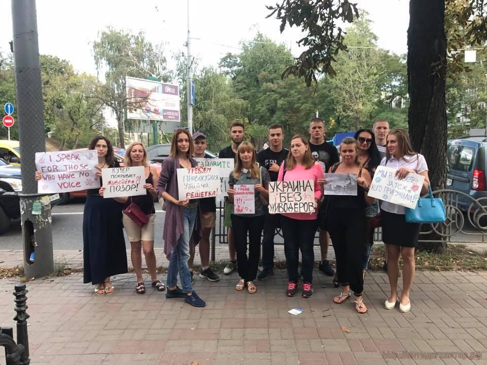Всеукраинская акция против живодеров и привлечения Алексея Святогора к ответственности