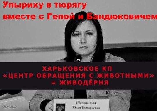 Кому Майдан, а Харьковский собачий ящик Шаповаловой, продолжает свое гнусное живодерское дело по террору людей.